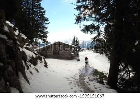 Traveller at Mountain Wallberg during the Late Spring #1595151067