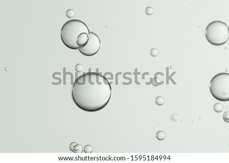 Gray water bubbles, low depth of field picture.