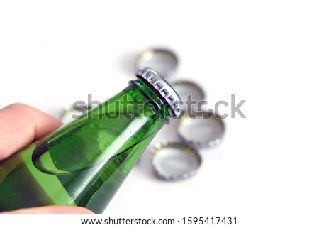 mineral water drink, natural mineral water bottle and cap, #1595417431