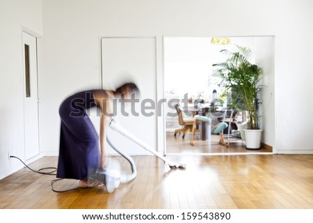 A woman cleaning the home #159543890