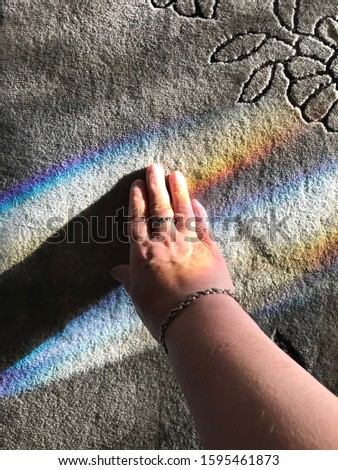 Inspirational Rainbow With Daughter's Touch  #1595461873