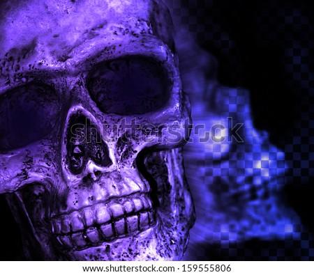 Violet Skull Scary Background