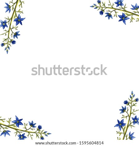 Hand painted floral elements set. Watercolor botanical illustration of eucalyptus, tulip, peony, anemone flowers and leaves. Natural objects #1595604814