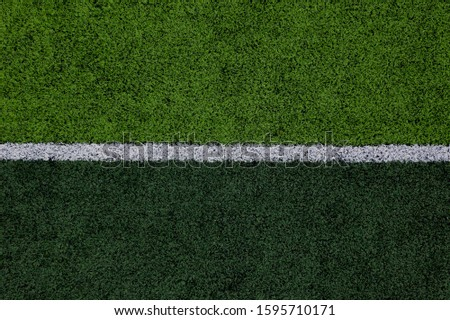 Green grass field, soccer field, soccer field background. #1595710171