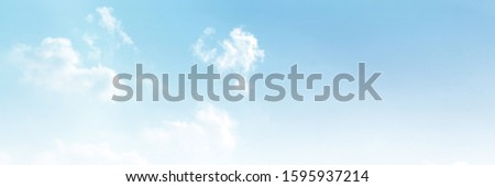 blue sky and white cloud beautiful background #1595937214