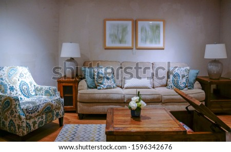 Elegant and comfortable home & hotel bedroom interior. #1596342676