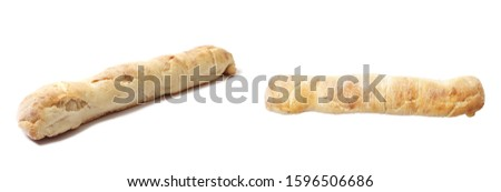 Fresh french baguette isolated on a white background #1596506686