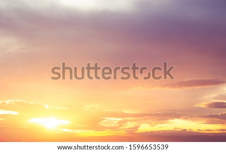 Epic and beautiful Skies Cloud Overlays during sunrise and sunset. Amazing clouds in different colors during sunrise or sunset. The concept of changing the sky in the pictures.
