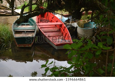boats on the Canal at Barra da Lagoa area of Lagoa da Conceicao - Florianopolis, Santa Catarina, Brazil #1596664861