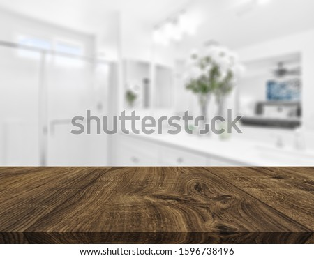 Table Top And Blur Interior of Background #1596738496