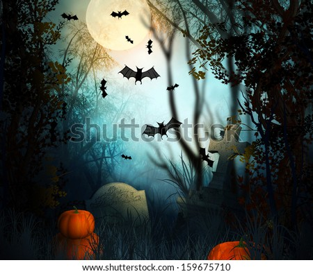 Halloween Backdrop #159675710
