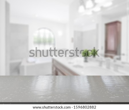 Table Top And Blur Interior of Background #1596802882