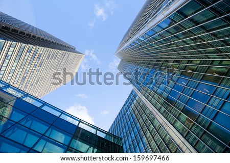 Corporate building Financial Skyscrapers in the Canary Wharf, City of London  #159697466