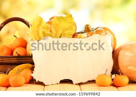 Autumn composition on nature background