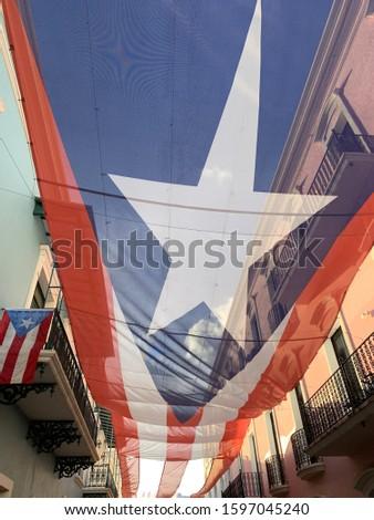Puerto Rico Flag in San Juan #1597045240