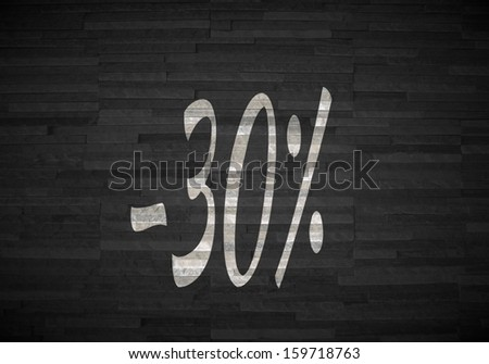 Pastel gray  creative offer 3d graphic with creative discount sign  on noble stone texture #159718763