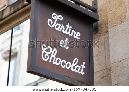 Bordeaux, Aquitaine / France - 11 12 2019 : Tartine et Chocolat sign logo store ready-to-wear birth clothes toddlers brand shop dress babies young childrenClothing for baby girls boys #1597347331