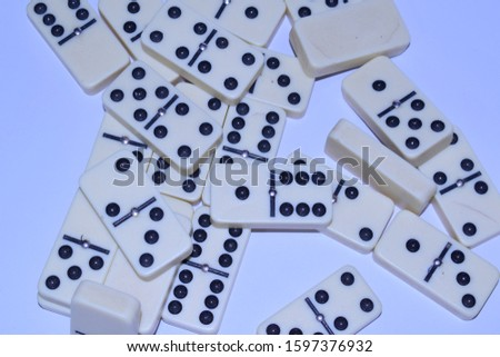 some dominoes of the dominoes game  #1597376932