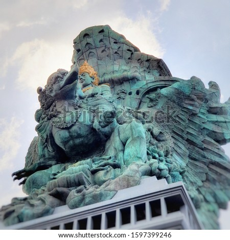 This is the garuda wisnu statue located in bali, indonesia. It is 400ft tall and 217ft width. #1597399246