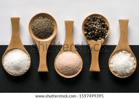 Kosher Salt, Ground Pepper, Himalayan Salt, Peppercorns, and Sea Salt Flakes #1597499395