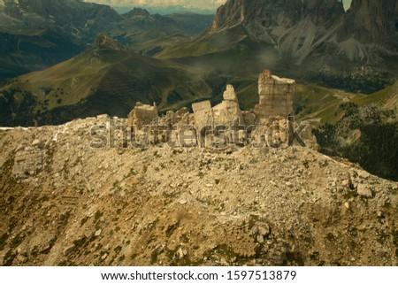 Pordoi - Dolomites mountain pass Italy Alps #1597513879
