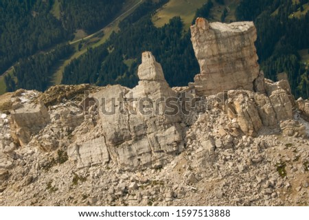 Pordoi - Dolomites mountain pass Italy Alps #1597513888