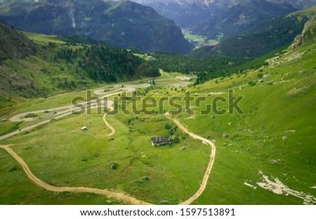 Pordoi - Dolomites mountain pass Italy Alps #1597513891