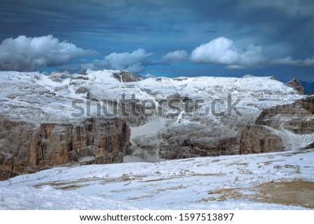 Pordoi - Dolomites mountain pass Italy Alps #1597513897