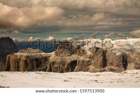 Pordoi - Dolomites mountain pass Italy Alps #1597513900