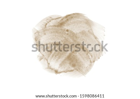Abstract watercolor background image with a liquid splatter of aquarelle paint, isolated on white. Brown tones #1598086411