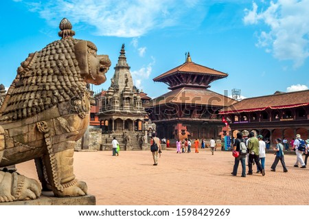 Bhaktapur Durbar Square is the royal palace of the old Bhaktapur Kingdom, 1,400 metres (4,600 ft) above sea level. It is a UNESCO World Heritage Site. #1598429269