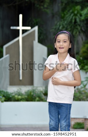 A Female And Laughter And Cross #1598452951