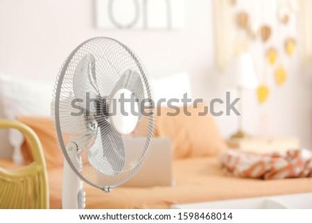 Modern electric fan in bedroom #1598468014