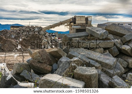 Construction material recycling plant with machinery for your selection #1598501326