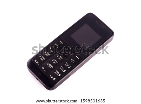 Classic mobile cell phone. Old mobile cell phone Cell phone on white background. #1598501635
