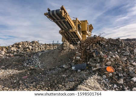 Construction material recycling plant with machinery for your selection #1598501764