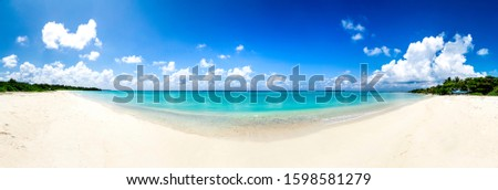 Beautiful Maldives Tourism Image Awesome colorful sea and cloudy sky panoramic view form Funadhoo Island Maldive best place to travel in the world nature background scenery concept #1598581279