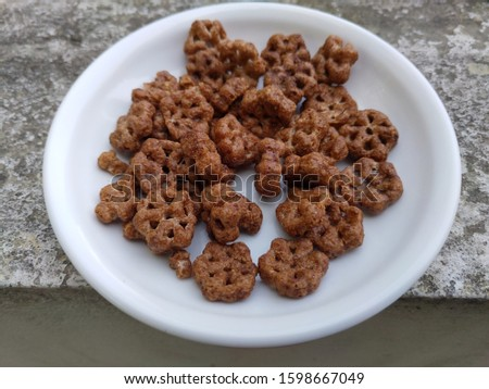 the crunchy chocolate small biscuit, the small biscuit for small baby #1598667049