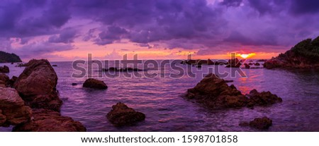 Autumn with seascape,View of the seascape,Thailand, Arts Culture and Entertainment, Atmospheric Mood, Backgrounds, Beach #1598701858