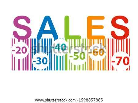 sale banner with colorful texts background, creative design for banner, flyer, vector illustration #1598857885