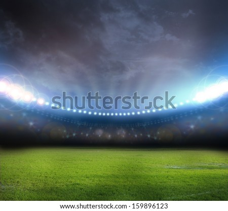 stadium in lights  Royalty-Free Stock Photo #159896123
