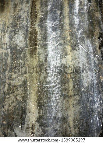 grunge background. abstract halftone wall. Distressed overlay texture of rusted peeled metal #1599085297