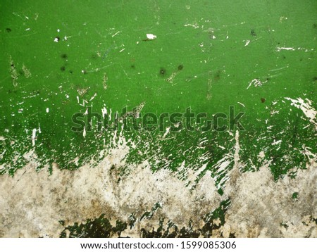 grunge background. abstract halftone wall. Distressed overlay texture of rusted peeled metal #1599085306