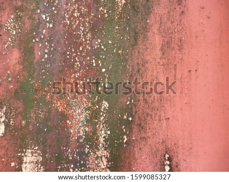 grunge background. abstract halftone wall. Distressed overlay texture of rusted peeled metal #1599085327