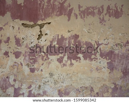 grunge background. abstract halftone wall. Distressed overlay texture of rusted peeled metal #1599085342