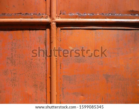 grunge background. abstract halftone wall. Distressed overlay texture of rusted peeled metal #1599085345