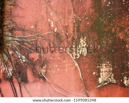 grunge background. abstract halftone wall. Distressed overlay texture of rusted peeled metal #1599085348