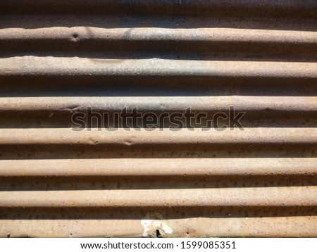grunge background. abstract halftone wall. Distressed overlay texture of rusted peeled metal #1599085351