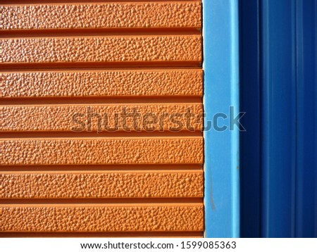 grunge background. abstract halftone wall. Distressed overlay texture of rusted peeled metal #1599085363