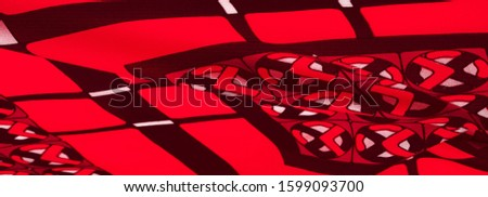 Background texture. silk bright fabric Mosaic geometric shapes Composition with colorful stained glass Grid design Illustration red blue purple white gray colors #1599093700